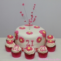 21st-birthday-daisy-cake