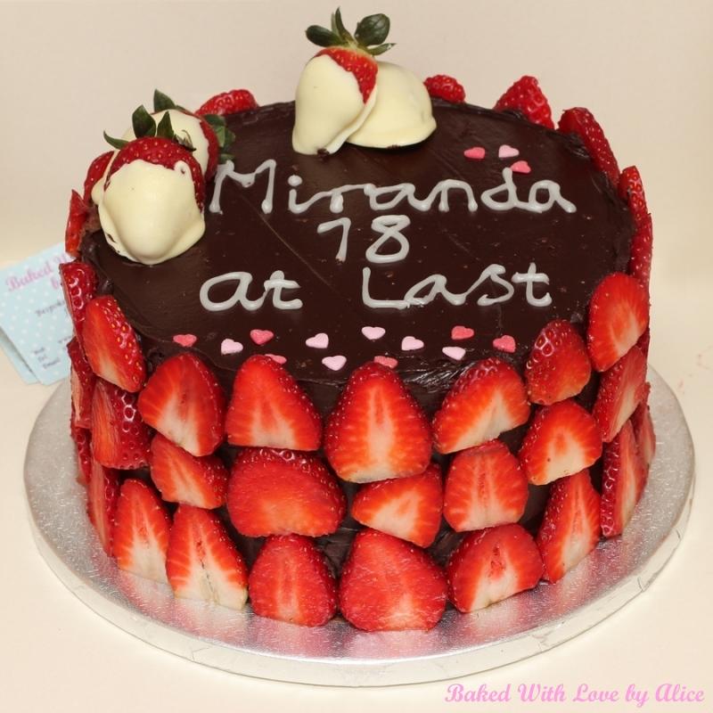 Strawberry-Chocolate Celebration Cake Recipe — Dishmaps