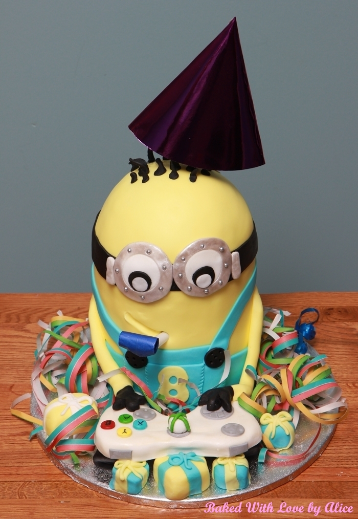 Minion Birthday Cake with Xbox Controller Minion Cupcakes Baked