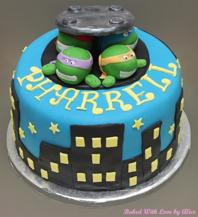 Teenage Mutant Ninja Turtles Cake Baked With Love by Alice