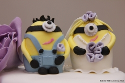 Wedding cake Minion toppers2